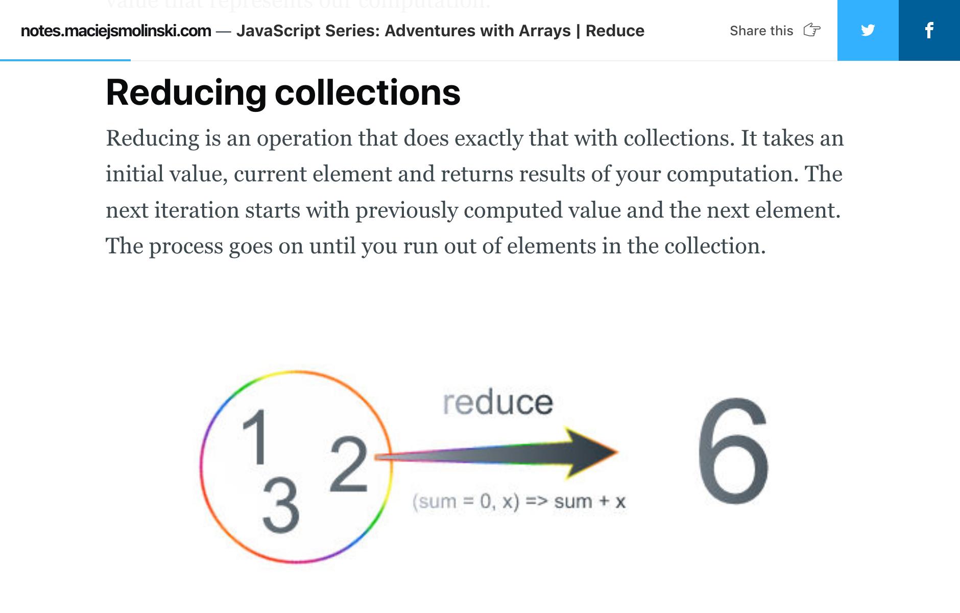 JavaScript Series Adventures with Arrays   Reduce